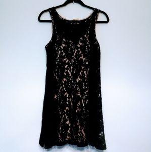 Free People Black Lace Dress Size S